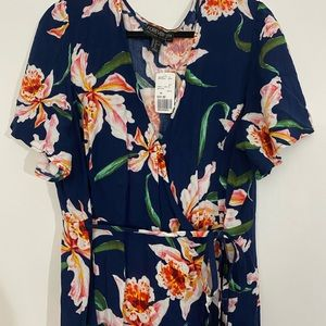 Forever21 Floral Wrap Dress NWT